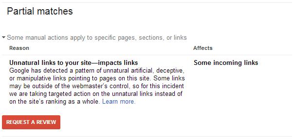 Google partial match penalty